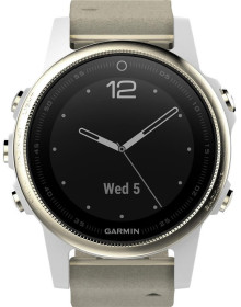 Часы Garmin Fenix 5s Sapphire with Suede Band (010-01685-13)